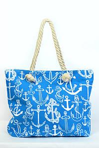 Пляжная сумка Сантьяго голубая