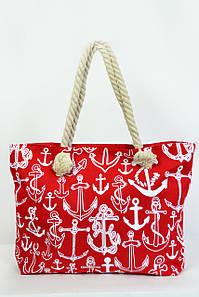 Пляжная сумка Сантьяго красная