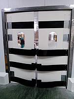 противоударные маятниковые двери из пластика HDPE