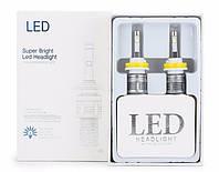 Автолампы LED А6, H7, Cree XHP50, 5400Lm, 48W, косичка