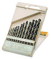 Набор сверл для металла HSS черные 2-8 мм, 13 шт. Mastertool 11-0213