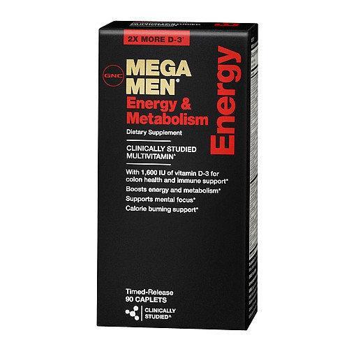 Витамины для мужчин GNC Mega Men Energy & Metabolism 90 caps