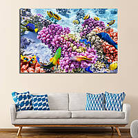 Картина - подводный мир, рыбы и коралы под водой