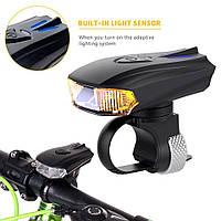 Велофара Machfally EOS350 CREE XPG (габаритные огни / 1300 мАч / USB-зарядка / датчики движения и освещения)