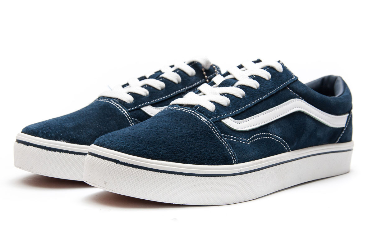 c02782f3 Кроссовки мужские Vans Old Skool, темно-синие (12942) размеры в наличии ▻
