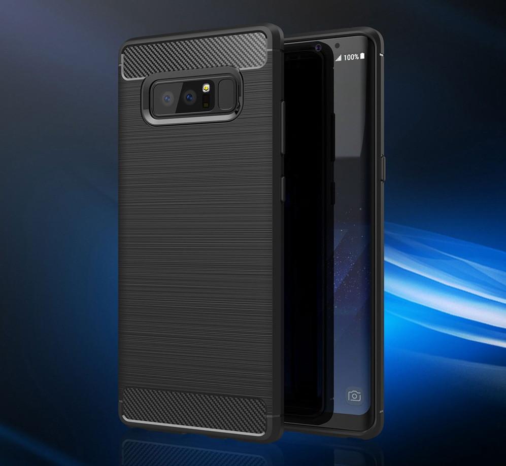 Чехол PRIMO Carbon Fiber Series для Samsung Galaxy Note 8 (N950) - Bla