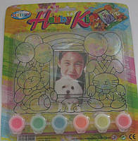 "Краски витражные 6 цветов по 5 мл, с трафаретом для фото ""Hobby Kit"". Набор для творчества"