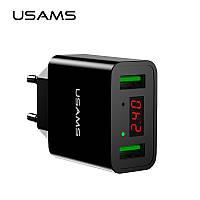 USAMS US-CC040 Универсальное зарядное устройство от сети для USB-устройств на 2 порта (ток 2.2A) for Apple, фото 1