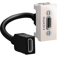 Розетка HDMI 1-мод. Слоновая кость Unica Schneider, MGU3.430.25