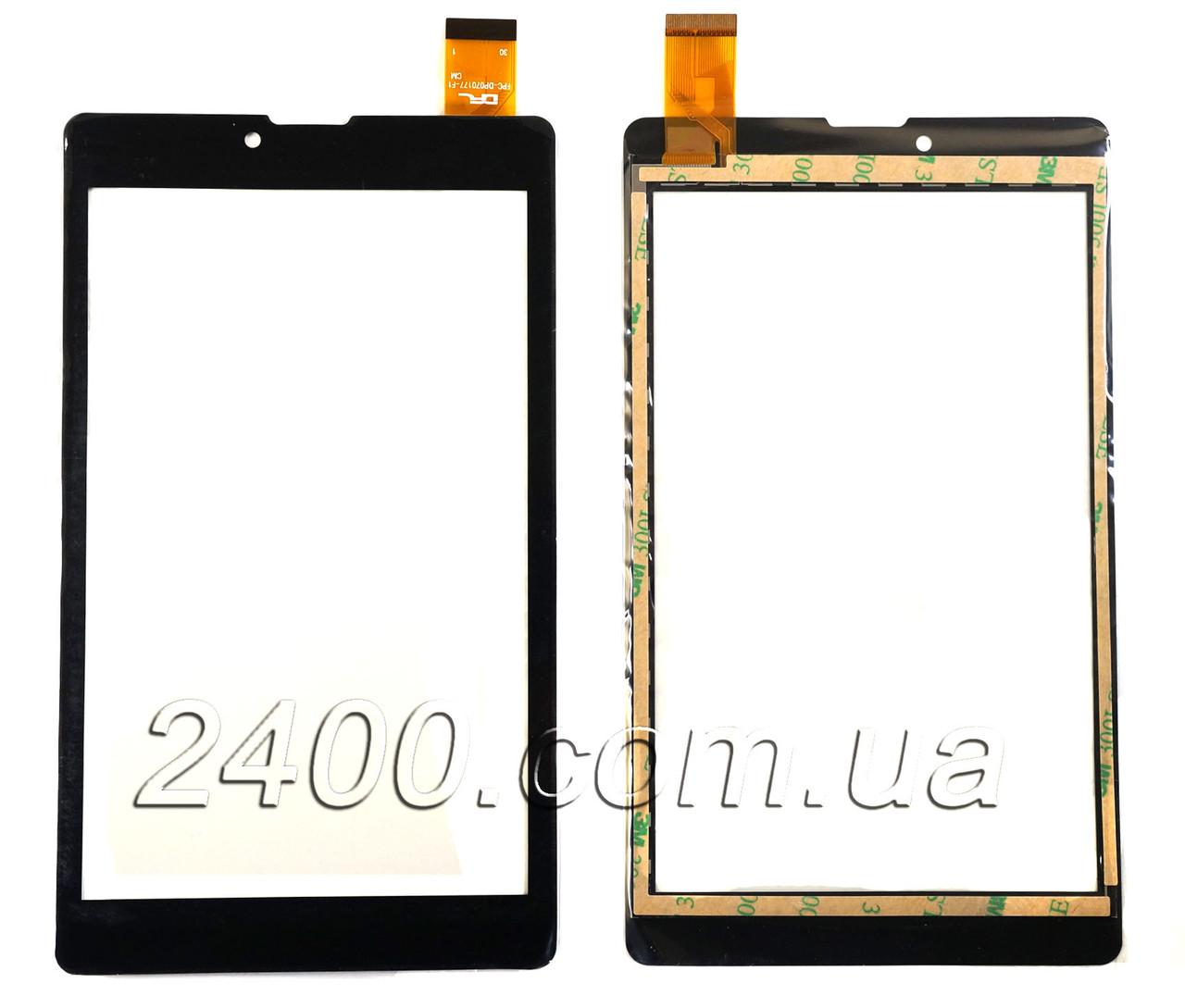Сенсор, тачскрин Digma PS 7122 PG  (черный) 30pin 184*115 мм, FPC-DP070177-F1
