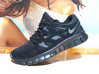 Мужcкие кроссовки Nike Free Run plus 2 репликачерные 42 р.