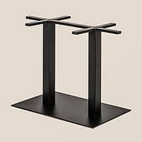 Двойная база стола, каркас , опора из стали черного цвета