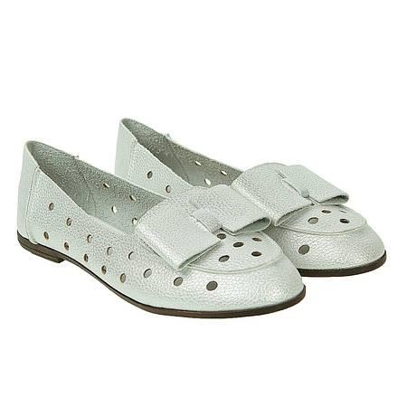 Балетки женские Gelsomino (белые, с блеском, стильные, легкие, модные)