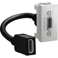 Розетка HDMI 1-мод. Алюминий Unica Schneider, MGU3.430.30