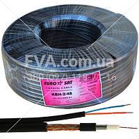 Кабель для систем видеонаблюдения 3C2V EUROSAT, комбинированный, медный, (48%), черный, 100м