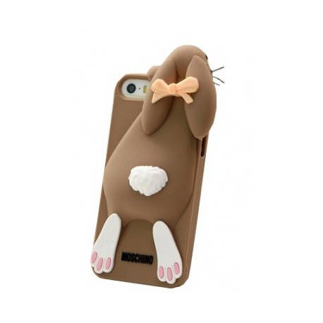 Чехол Moschino Violetta Rabbit Коричневый на IPhone 5/5S