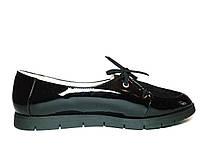 Туфли женские кожаные черные Veronika Black Leather, размер 36