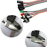 Кнопка живлення і перезавантаження з двома LED індикаторами POWER і HDD, POWER-RESET для майнінг ферм SKU0000951, фото 5