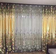 Комплект шторы с тюлем (компаньоны) Dina № 157, фото 1