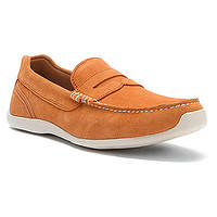 Лоферы мокасины мужские Rockport Drivesports Lite Penny Light Orange Замша р-41