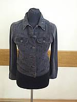 Джинсовая женская куртка серая Massimo Dutti