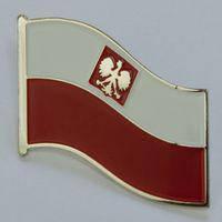 Значок флаг Польши большой