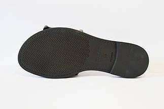 Шлепанцы женские кожаные черные Eleni 112, фото 3