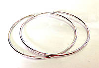 Серьги большие кольца, Xuping родий, диаметр 6 см