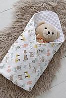 Плюшевый плед Minky+ сумочка, со зверятами  арт.130429 ТМ Mag Baby