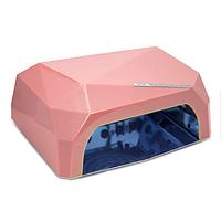 Гибридная ультрафиолетовая CCFL+LED лампа 36W UKC жемчужно-розовый
