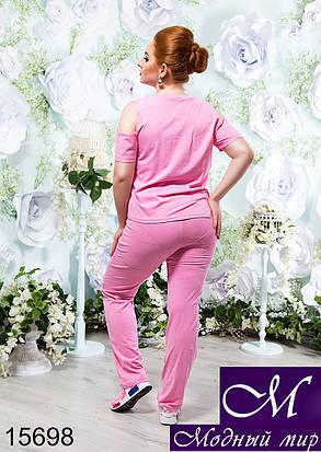Стильный женский спортивный костюм лето (р. XL, XXL) арт. 15698, фото 2
