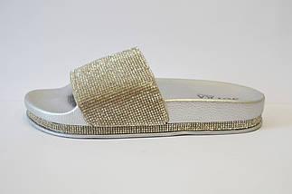 Шлепанцы серебристые Sopra PC02, фото 2