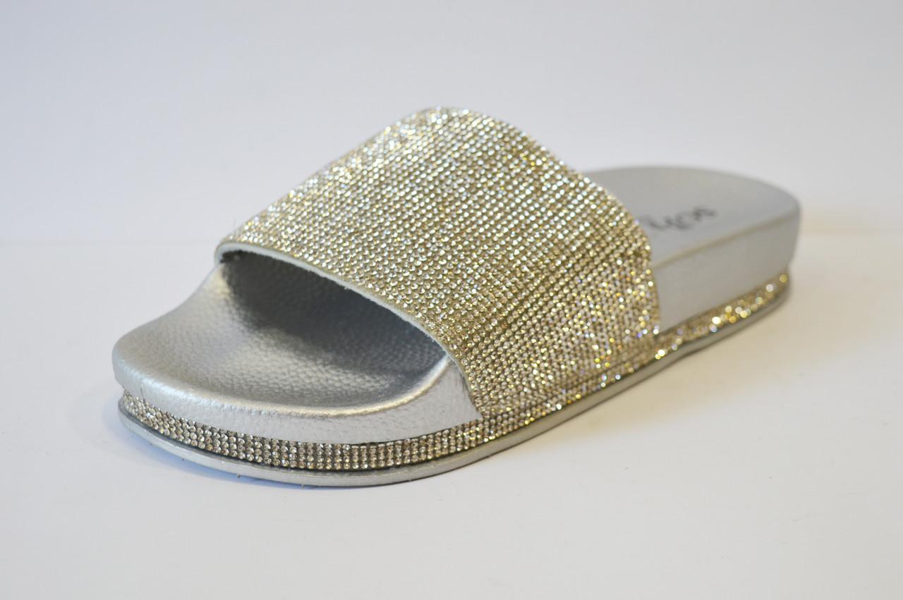 Шлепанцы серебристые Sopra PC02