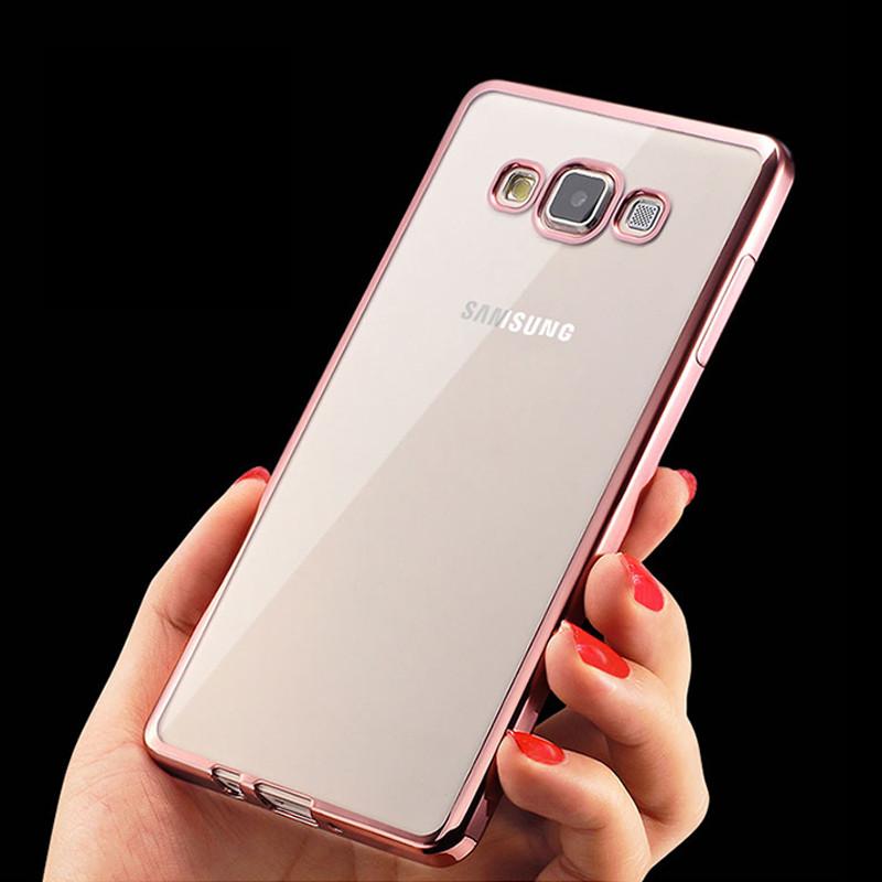 Чехол Frame для Samsung J7 Neo / J701 бампер силиконовый Rose Gold