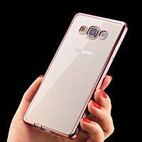 Чехол Frame для Samsung J7 Neo / J701 бампер силиконовый Rose Gold, фото 1