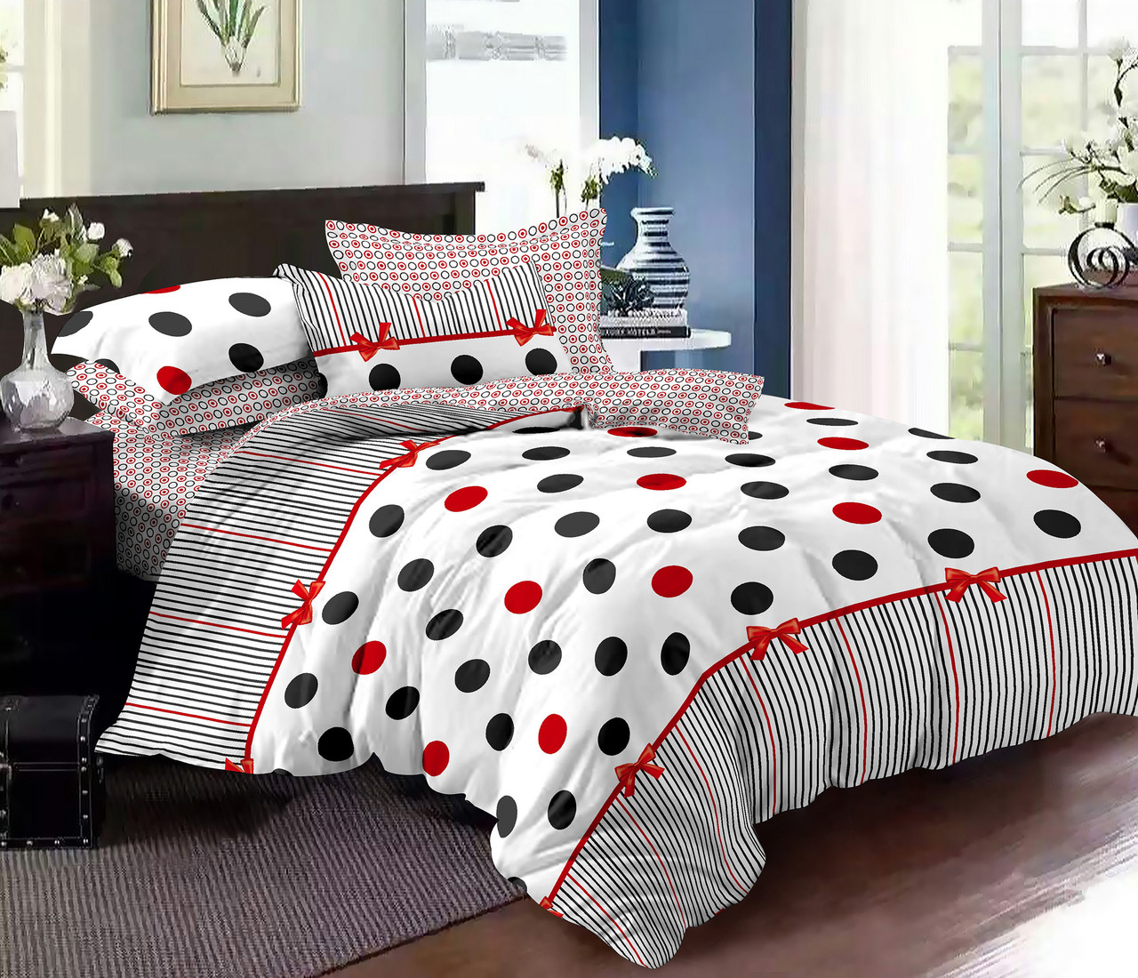 Двуспальный комплект постельного белья евро 200*220 хлопок  (9674) TM KRISPOL Украина