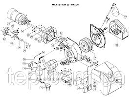 Запчасти для жидкотопливной ( дизельной ) горелки Ecoflam MAX15 мощноcтью до 190кВт