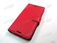 Кожаный чехол книжка Sony Xperia X F5122 (красный), фото 1