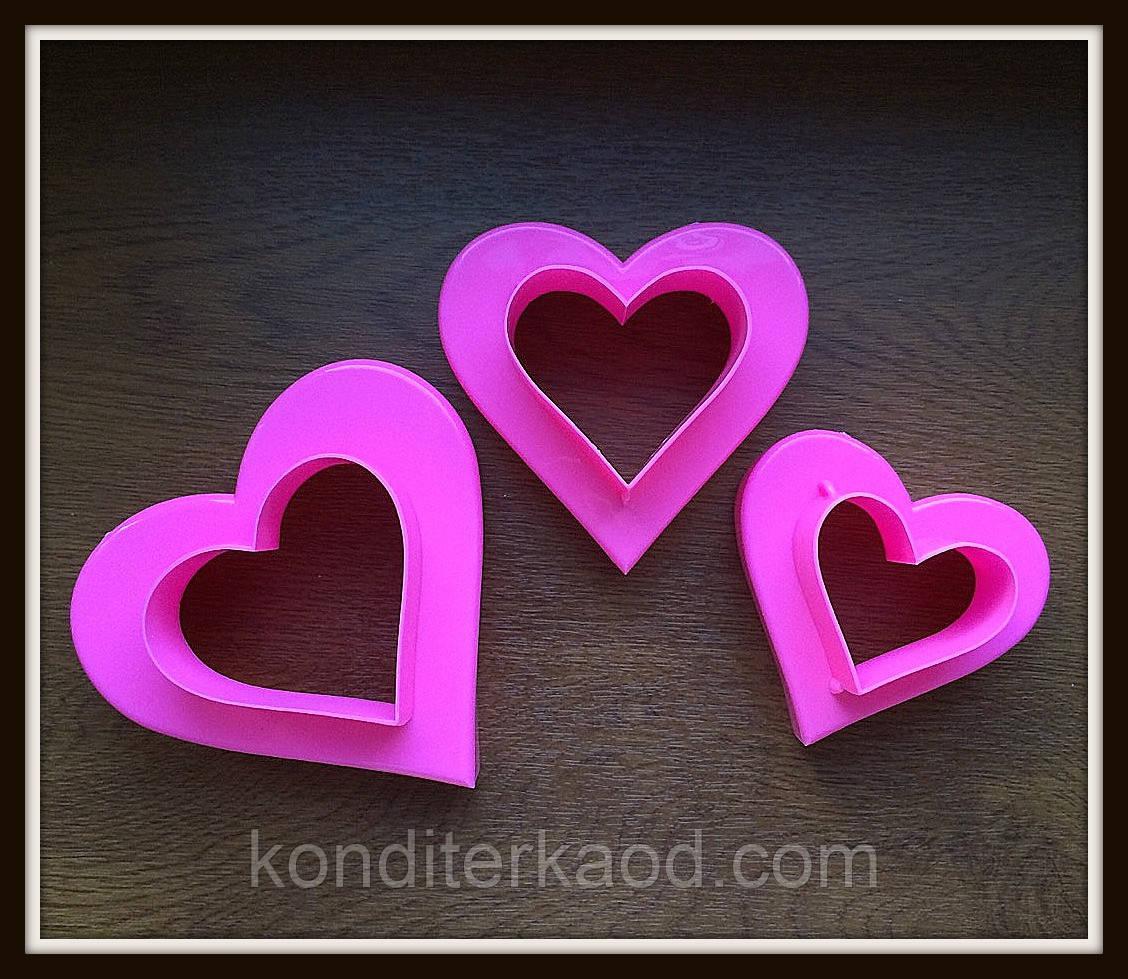 Набор катеров Сердца 2в1 (3 шт) 6 размеров