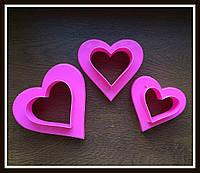 Набор катеров Сердца 2в1 (3 шт) 6 размеров, фото 1