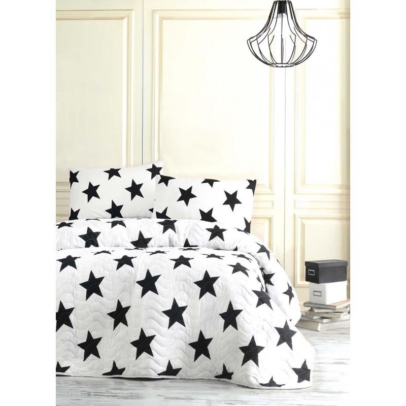 Покрывало стеганное с наволочками Eponj Home B&W - BigStar 200*220 см