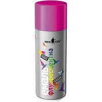 Флуоресцентная аэрозольная краска NewTon 0096 400г Розовая G-3