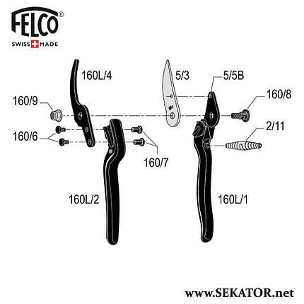 Змінні деталі до секатора Felco 160L, фото 2