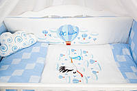 """Комплект в кроватку """"Шар"""" голубой"""