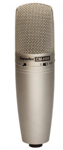 Конденсаторный микрофон для записи вокала и акустических инструментов SUPERLUX CMH8B