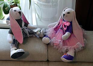Заяц, интерьерная тряпичная кукла, 44 см