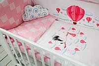 """Комплект в кроватку """"Шар"""" розовый"""