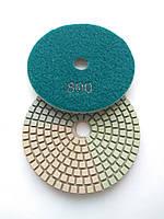 """Гибкие полировальные круги """"3-цвета"""", алмазные липучки, """"Черепашки"""" для полировки гранита d100mm №800"""