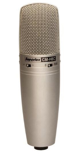 Конденсаторный микрофон для записи вокала и акустических инструментов SUPERLUX CMH8С