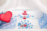 """Комплект в кроватку """"TEDDY BEAR"""" голубой"""